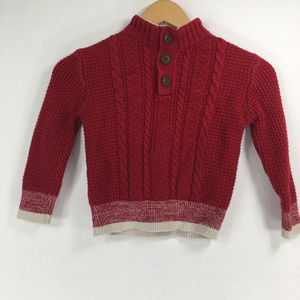Cherokee 5T Red Cable Knit Sweater Christmas